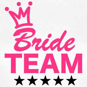 Bride, Team, Wedding, 5 Stars, Crown, Marriage T-shirts - Dame-T-shirt