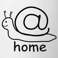 "Nerd T-Shirts mit ""at home schnecke"""