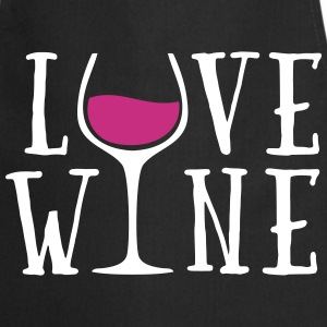 Love Wine Quote Fartuchy - Fartuch kuchenny