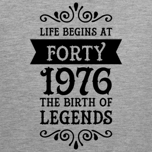 Life Begins at Forty - 1976 The Birth Of Legends Sports wear - Men's Premium Tank Top