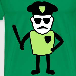 COP with baton - Men's Premium T-Shirt