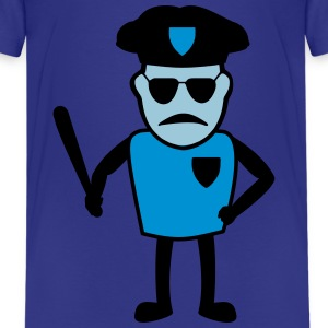 Policeman with truncheon - Teenage Premium T-Shirt