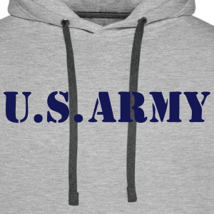 US army 05 Sweat-shirts - Sweat-shirt à capuche Premium pour hommes