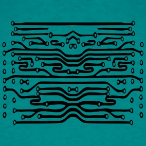 design lines microchip disk pattern cool lines T-Shirts - Men's T-Shirt