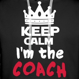 I'm the coach Sweat-shirts - Sweat-shirt à capuche Premium pour hommes