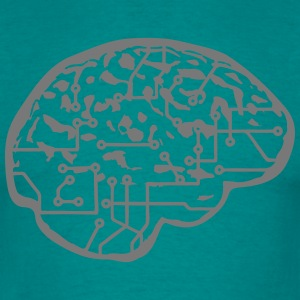 cyborg brain machine computer science fiction micr T-Shirts - Men's T-Shirt