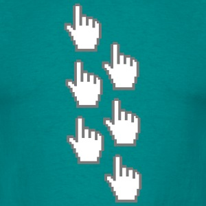 computer mouse pointer pc work show hand fingers d T-Shirts - Men's T-Shirt