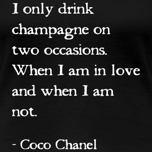 Coco Chanel Quote - Dame premium T-shirt