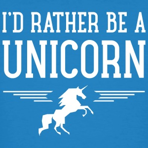 I\'d Rather Be A Unicorn T-skjorter - Økologisk T-skjorte for menn