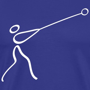 Athletics Hammer Throw Pictogram T-Shirts - Men's Premium T-Shirt