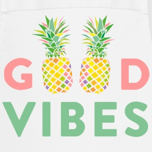 AD GOOD VIBES PINEAPPLE  Aprons - Cooking Apron