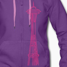 """Space Needle"" in Seattle Hoodies & Sweatshirts"