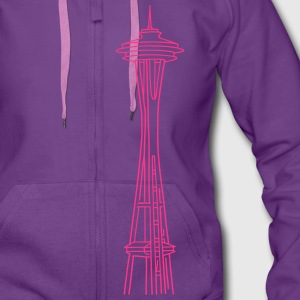Space Needle in Seattle Hoodies & Sweatshirts - Women's Premium Hooded Jacket