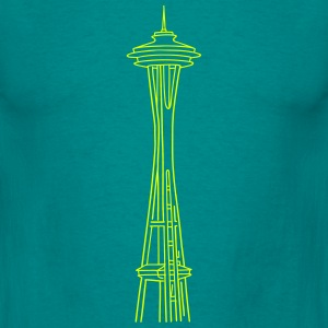 Space Needle in Seattle T-Shirts - Men's T-Shirt