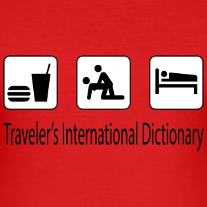 Traveler's dictionary Tee shirts - Tee shirt près du corps Homme