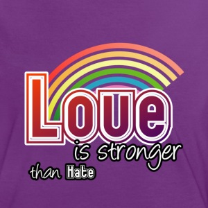 Love - stronger than hate - Frauen Kontrast-T-Shirt