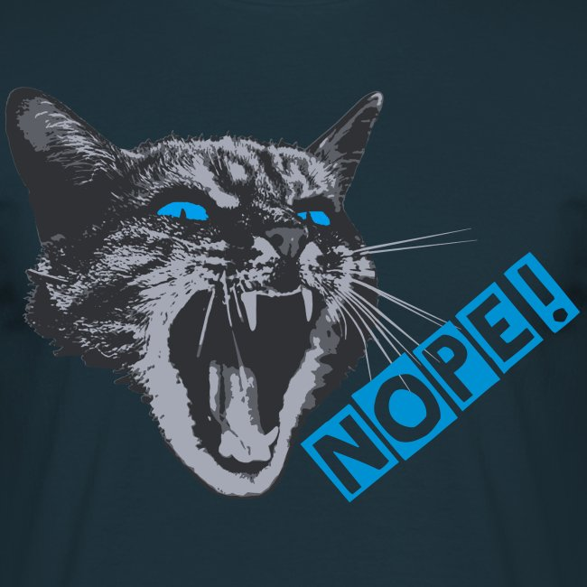 The angry grumpy cat say NOPE!