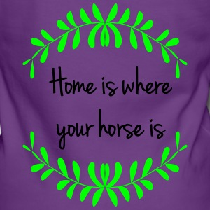 home_is_where_your_horse_is Pullover & Hoodies - Frauen Premium Kapuzenjacke