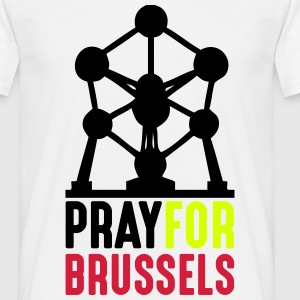 Pray For Brussels - Männer T-Shirt