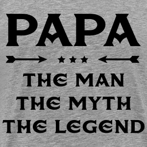 Papa - The Man, The Myth, The Legend T-shirts - Mannen Premium T-shirt