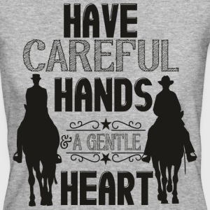 Have careful Hands -- schwarz Camisetas - Camiseta ecológica mujer