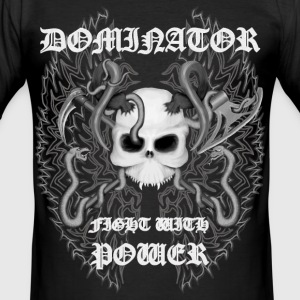 Dominator Black and White T-Shirts - Männer Slim Fit T-Shirt