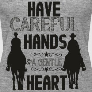 Have careful Hands -- schwarz Tops - Camiseta de tirantes premium mujer