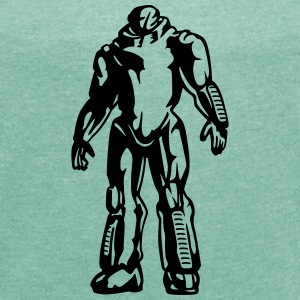Robot T-Shirts - Women's T-shirt with rolled up sleeves