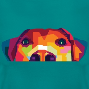 Hund Polygon Frauen Shirt - Frauen T-Shirt