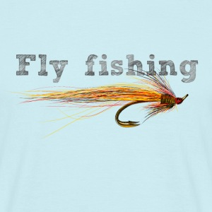 fly fishing hook Camisetas - Camiseta hombre