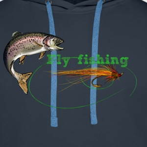 fly fishing Hoodies & Sweatshirts - Men's Premium Hoodie