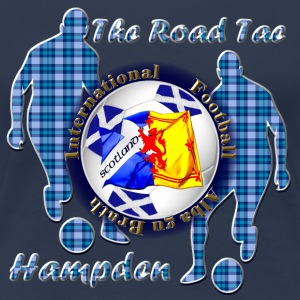 Scotland road to football blue tartan T-Shirts - Women's Premium T-Shirt