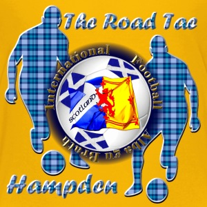 Scotland road to football blue tartan Shirts - Teenage Premium T-Shirt
