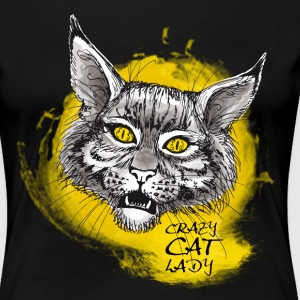 crazy cat lady - Frauen Premium T-Shirt