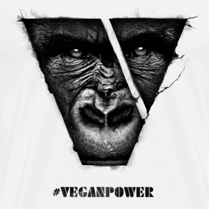 #VeganPower - Gorilla - Men's Premium T-Shirt