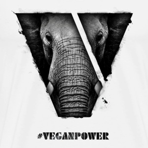 #VeganPower - Elephant - Men's Premium T-Shirt