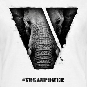 #VeganPower - Elephant - Women's T-Shirt