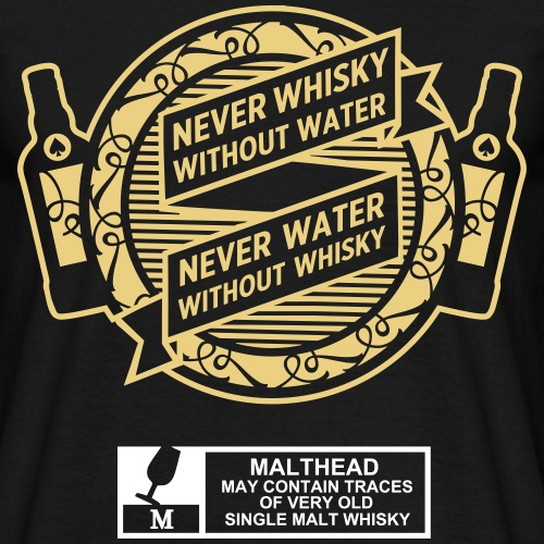 Never whisky without water
