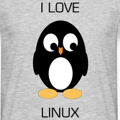 I Love Linux Penguin T-Shirt