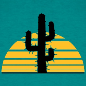desert sun sunset sunrise big cactus desert thorn T-Shirts - Men's T-Shirt