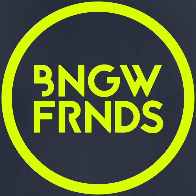 Männer T-Shirt atmungsaktiv // BNGWFRNDS (Logo neongelb)