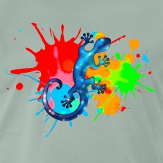 Space Gecko, Lizard, Color, Splash, Festival Camisetas