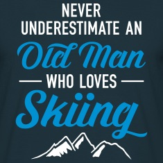 Never Underestimate An Old Man Who Loves Skiing T-Shirts