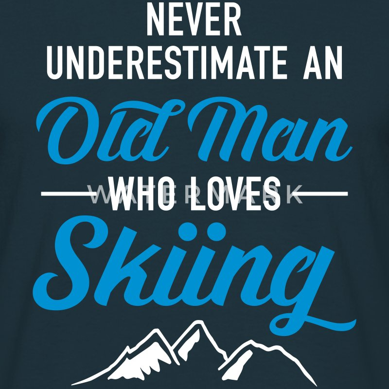 Never Underestimate An Old Man Who Loves Skiing T-shirts - Mannen T-shirt