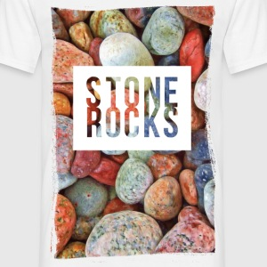 stone rocks T-shirts - Herre-T-shirt
