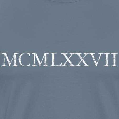 MCMLXXVII Jahrgang 1977 Römisch Geburtstag Jahr
