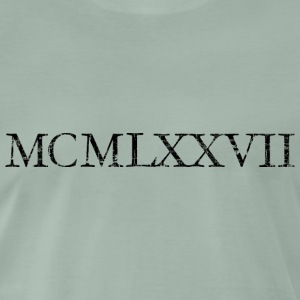 MCMLXXVII 1977 Roman Birthday Year T-Shirts - Men's Premium T-Shirt