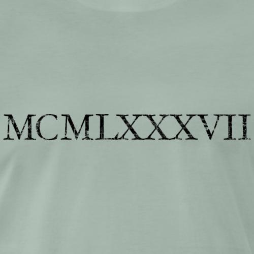 MCMLXXXVII Jahrgang 1987 Römisch Geburtstag Jahr