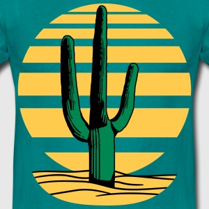 sun heat hot lines sunset cactus desert design gre T-Shirts - Men's T-Shirt