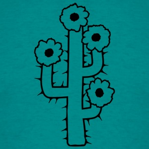 beautiful flower blossoms large desert cactus spin T-Shirts - Men's T-Shirt